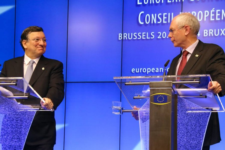 José Manuel Barroso and Herman van Rompuy (photo: Yann Schreiber)